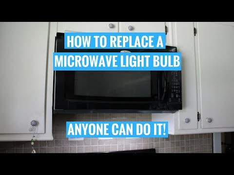 HOW TO CHANGE A MICROWAVE LIGHT BULB Whirlpool | ANYONE can do it!