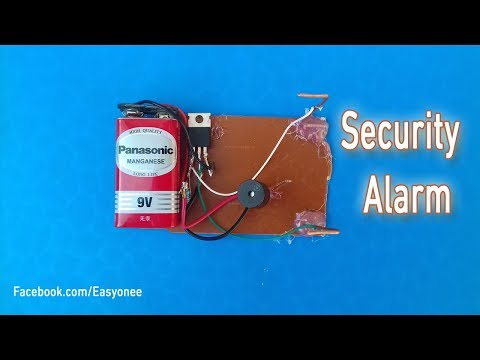 How to make security alarm device using a transistor
