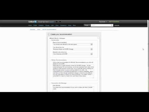 How to Write a Recommendation in Linkedin