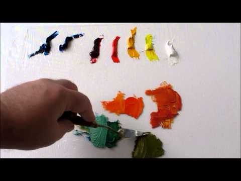 How to mix oil Colors: Split Primary Color Palette