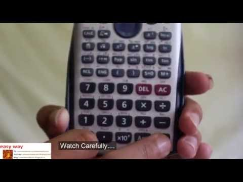 How to convert division number(no) to decimal in Casio fx-991Es Calculator