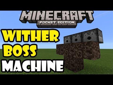 WITHER BOSS MACHINE | Minecraft PE