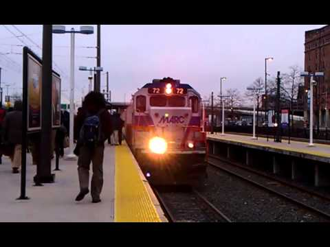 MARC Train - Entering Camden Station Baltimore
