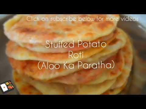 Soft Stuffed Potato Roti |Aloo Ka Paratha|Less Spicy Mauritian Style