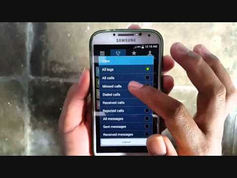 Samsung Galaxy S4 : How to do Call History (Android Kitkat)