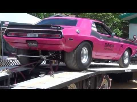 1970 Dodge Challenger drag car on the dyno