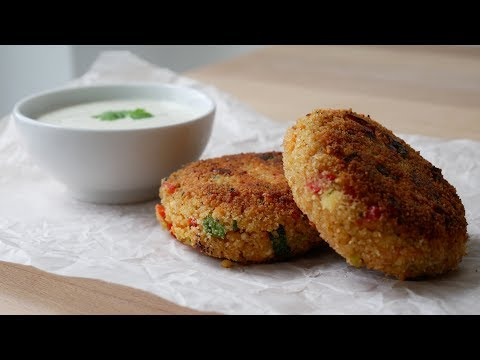 Vegetarische Couscous Bratlinge (Rezept) || Vegetarian Couscous Patties (Recipe) || [ENG SUBS]