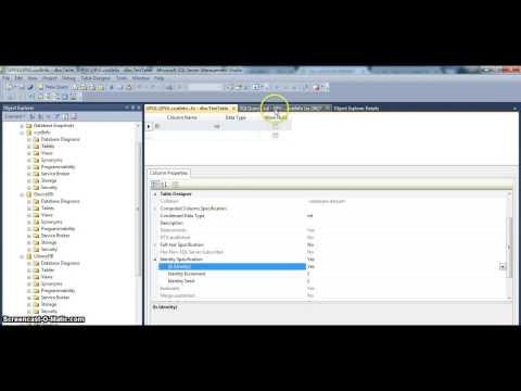 Sql server identity column - How to add Sql identity column by using SQL Mgmt studio 2012