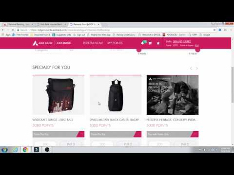 How to redeem axis bank rewards point from Netbanking | edge Loyalty Point