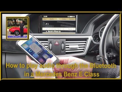 How to play audio through the bluetooth in a Mercedes Benz E Class 2 1 E250 CDi Blue Efficiency Avan