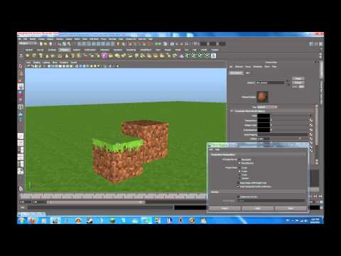 autodesk maya tutorial minecraft environment part 5