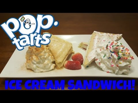 How To Make SUPER DOPE Poptart Ice Cream Sandwiches
