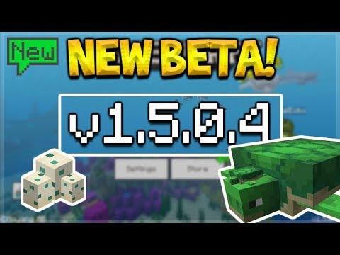 NEW MCPE 15.0.4 BETA! Minecraft Pocket Edition - NEW Turtles Added & Bubble Columns!