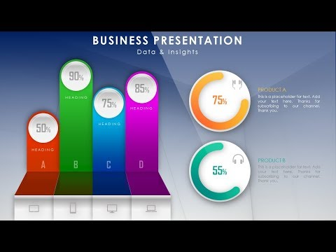 How To Create Beautiful Infographic Dashboard for Business Presentation in Microsoft PowerPoint PPT