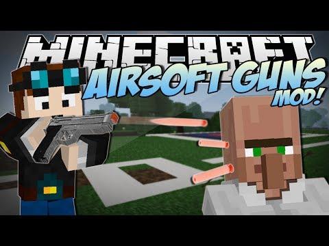 Minecraft | AIRSOFT GUNS MOD! (Awesome New Guns & Weapons!) | Mod Showcase