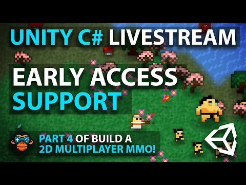 C# with Unity Live Programming #11- Multiplayer 2D Top Down Adventure MMORPG Part 4