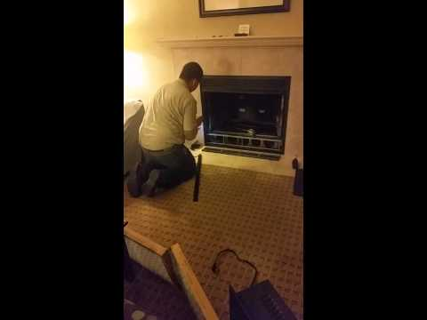 Squirrel stuck in fireplace