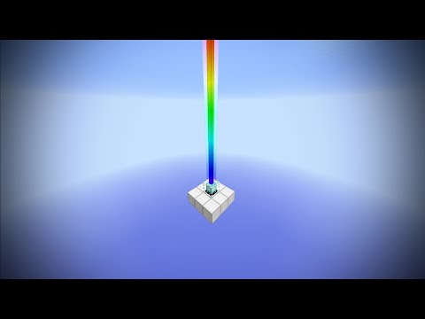 Minecraft - Rainbow Colored Beacon - Tutorial 1.8