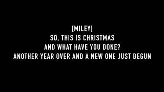 Miley Cyrus & Mark Ronson - Happy Xmas (War Is Over) ft. Sean Ono Lennon [Lyrics Video]