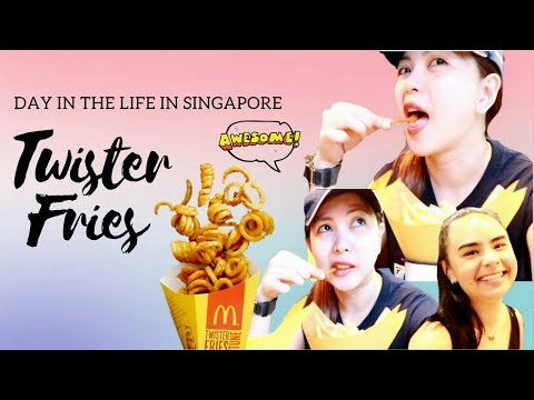 Day in the Life in Singapore   $5 TWISTER FRIES [Next to McDo] Follow Me Around BUGIS #TheWickeRmoss