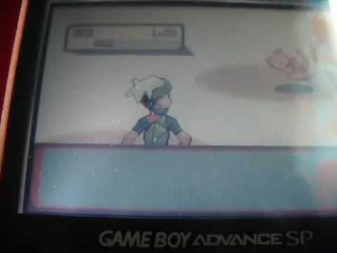 Pokemon Emerald Catching Mew  (with gameshark) gba