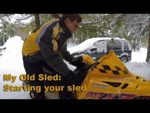Starting a 2 Stroke Snowmobile with a Primer - S1E#11