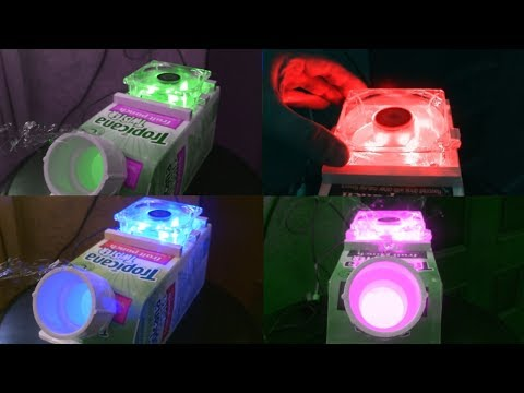 Homemade AC Air Cooler! - LED-Lighted (Multi-Color)