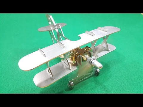 Assembling Model Aircraft Hot Air Stirling Engine