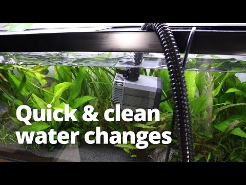 Quick and easy water changes using a pond pump