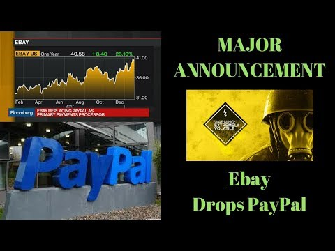 BREAKING NEWS!!  EBAY DROPS PAYPAL.  Adyen is new payment processor