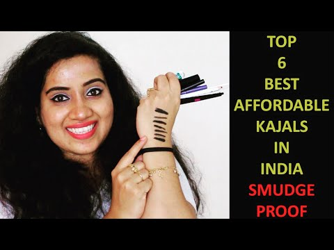 6 BEST AFFORDABLE DARK BLACK KAJAL IN INDIA | Smudge Proof
