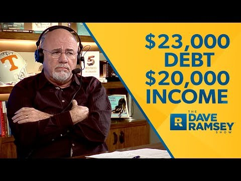 $23,000 In Debt With A $20,000 Income