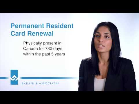 Permanent Residence PR Card Renewal