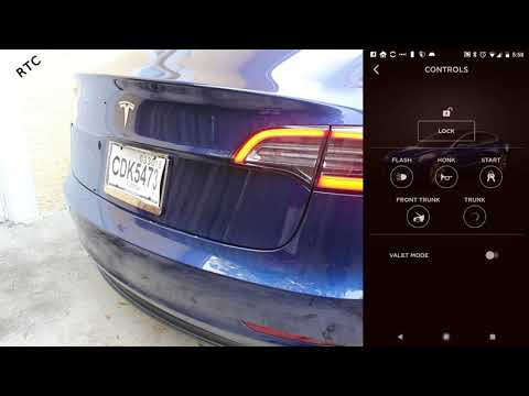 Tesla Model 3 - How To: Open the Trunk with the App