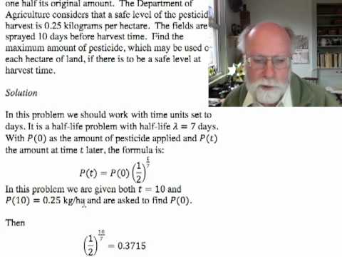 Exponential Models 6: Examples and Doubling Time