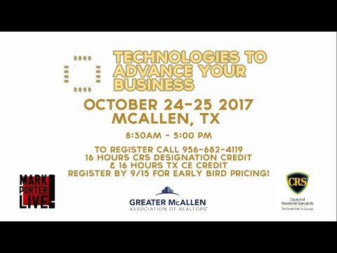 DATE CHANGE: CRS 206 Technologies to Advance Your Business in McAllen, TX