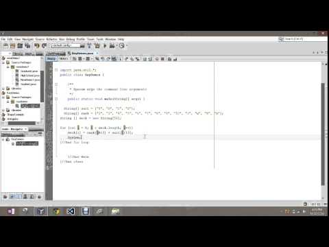 Working with a Deck of Cards Using Arrays Java