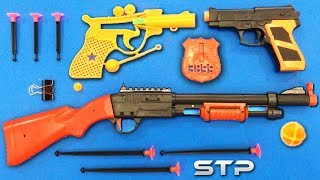 3 Different Toy Guns | Soft Bullet Shooter Weapon Toys Test