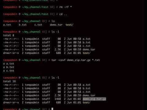 Bash Script: Compress (zip) files using