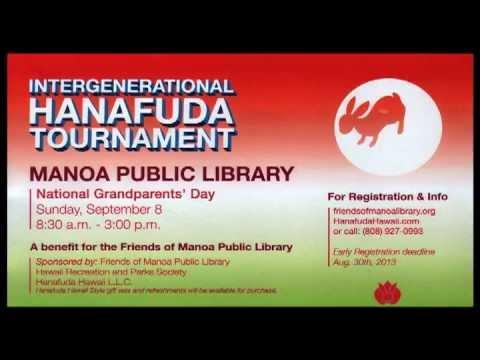 Hanafuda Hawaii Manoa Library Tournament 9/8/2013
