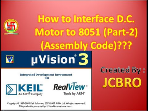 How to interface D C  Motor to 8051 micro controller Part 2 (assembly) ??