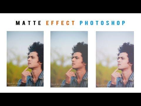 Photoshop cc |  Matte Photo Editing