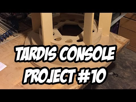 TARDIS Console Project #10 - The Base, CNC cutting and building!