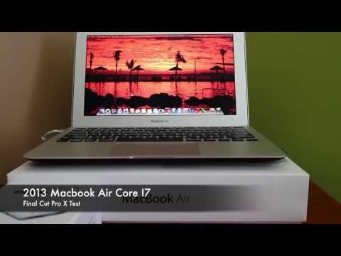 Macbook Air 2013 Core I7 Final Cut Pro X Test