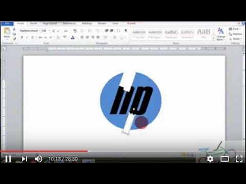 Membuat logo hp dengan microsoft words
