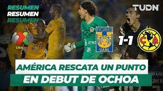 Resumen y Goles Tigres 1 -  1 América   Liga MX  - Apertura 2019 - Jornada 6   TUDN