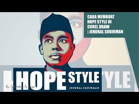 Cara Membuat Hope Style di Corel Draw by takevektor