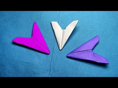 How to make a paper arrowhead-Origami Ninja Weapons Easy-Paper flying flicker no tape or glue