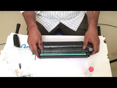 How to refill hp 12a canon 303,fx9,313 toner for printer hp 1020 canon 2900