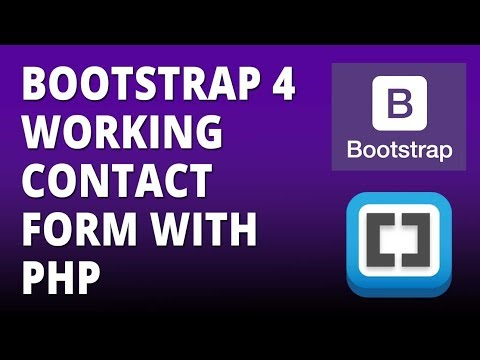 Bootstrap 4 Working contact form with php Bootstrap 4 and Brackets Text Editor